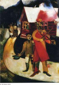 Der fiddler l auf leinwand von marc chagall 1887 1985 for Biographie de marc chagall
