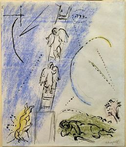 Marc Chagall - -Study auf --The Jacob-s Dream---