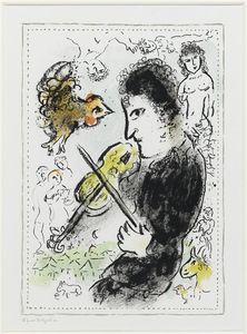 Marc Chagall - Fiddler mit ruster
