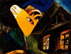 Marc Chagall - Der Kuhstall