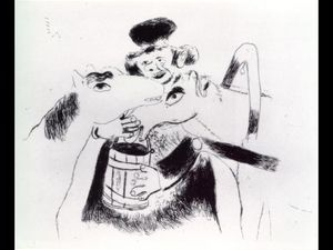 Marc Chagall - Coachman Feeds Ritte