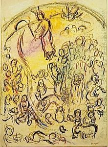 Marc Chagall - 'Study auf ''Striking Rock'''