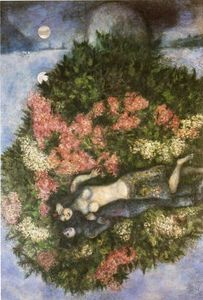 Marc Chagall - Lovers in der Flieder