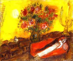 Marc Chagall - Die Sky entflammt