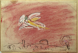 Marc Chagall - 'Study auf ''Song von songs IV'''