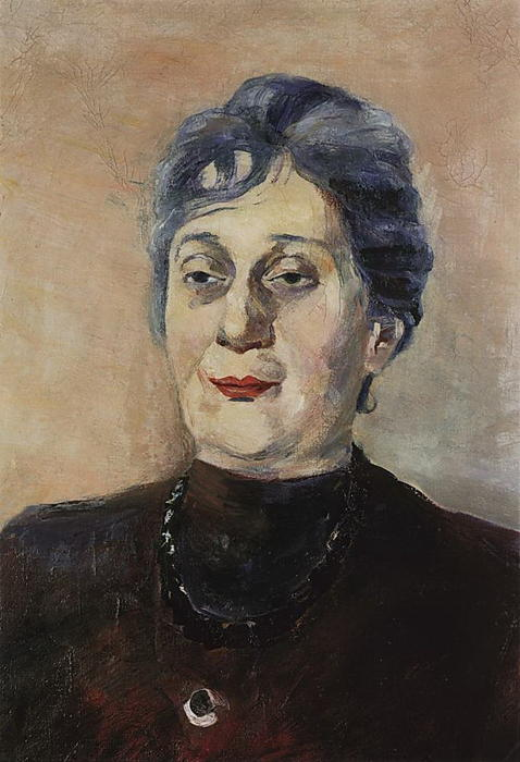 portrait der dichterin anna achmatowa l auf leinwand von martiros saryan 1880 1972 russia. Black Bedroom Furniture Sets. Home Design Ideas