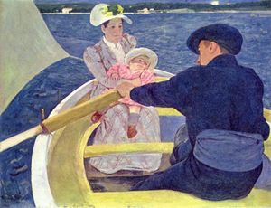 Mary Stevenson Cassatt - die bootsparty