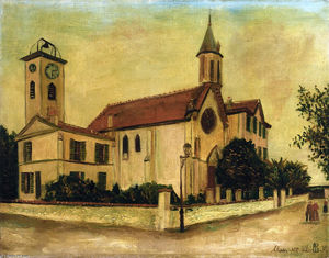 Maurice Utrillo - Beaulieu Church