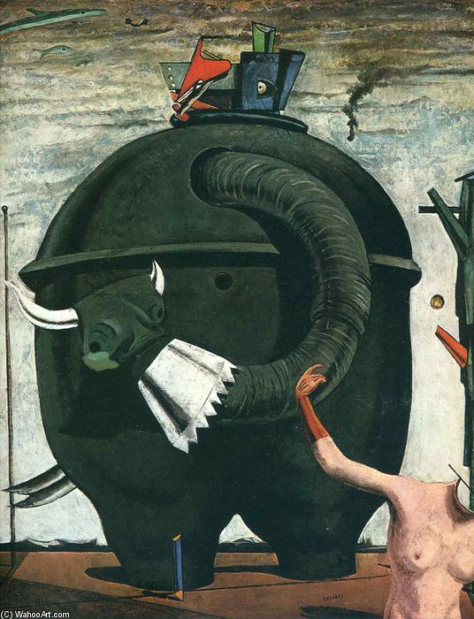 Die Elephant Celebes, collage von Max Ernst (1891-1976, Germany)