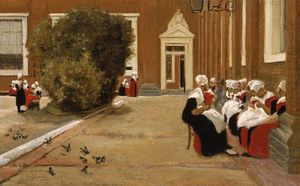 Max Liebermann - Amsterdam Orphanage