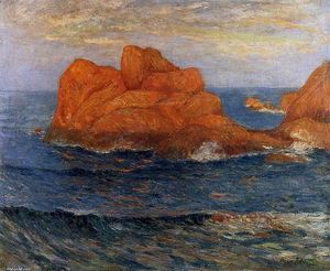 Maxime Emile Louis Maufra - Die Red Rocks at Belle Ile