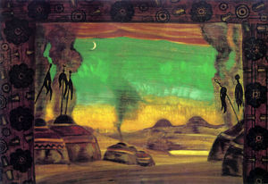 Nicholas Roerich - Polowetzer Lager