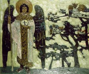 Nicholas Roerich - Archangel (Studie zu Treasures of angels )