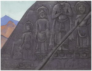 Nicholas Roerich - rock-relief of Buddha