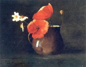 Odilon Redon - Blumen in green null