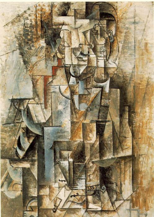 mann mit gitarre l auf leinwand von pablo picasso 1881. Black Bedroom Furniture Sets. Home Design Ideas
