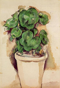 Paul Cezanne - Topf Pelargonien