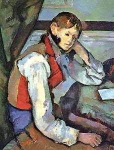 Paul Cezanne - Boy in einer roten Weste