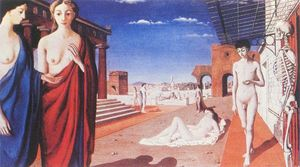 Paul Delvaux - Red Stadt