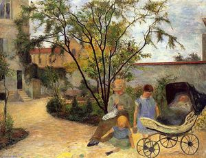 Paul Gauguin - Garden In der Rue Carcel