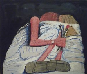 Philip Guston - paar in Beet