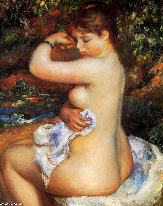 Nach dem Bad, 1888 von Pierre-Auguste Renoir (1841-1919, France)