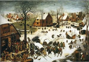 Pieter Bruegel The Elder - Zählung in Bethlehem