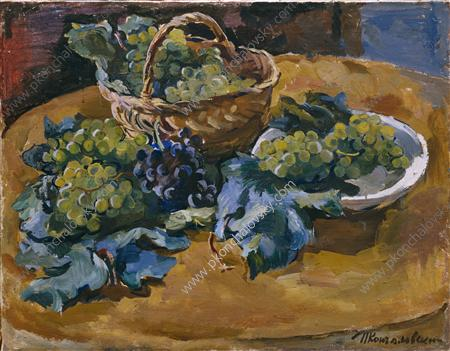 Stillleben. Grape., 1929 von Pyotr Konchalovsky (1876-1956, Russia)
