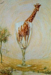 Rene Magritte - Der cut-glass bad