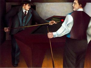 Richard Lindner - Die Billard