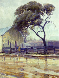 Robert Julian Onderdonk - Rainy Day in Bandera