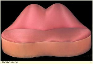 Salvador Dali - Mae West Lippen Sofa