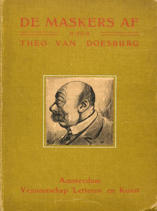 Cover of Die Masken, 1910 von Theo Van Doesburg (1883-1931, Netherlands)