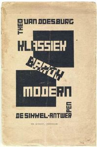 Theo Van Doesburg - Cover of Classic, Modern, Baroque