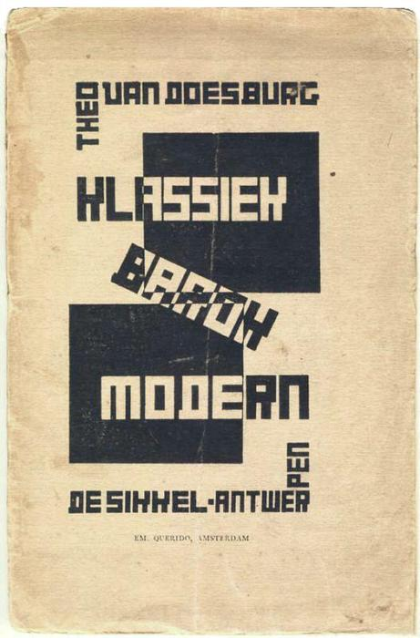Cover of Classic, Modern, Baroque, 1920 von Theo Van Doesburg (1883-1931, Netherlands)