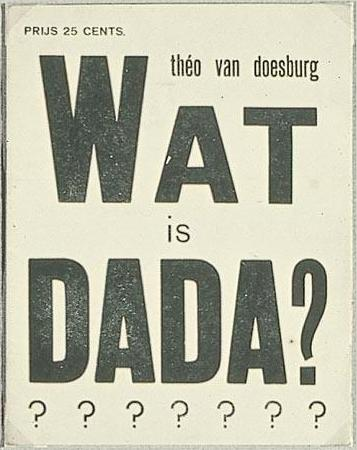 Cover of Was ist dada, 1923 von Theo Van Doesburg (1883-1931, Netherlands)