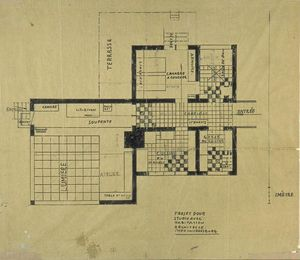 Theo Van Doesburg - Projekt of house-studio