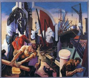 Thomas Hart Benton - City Building
