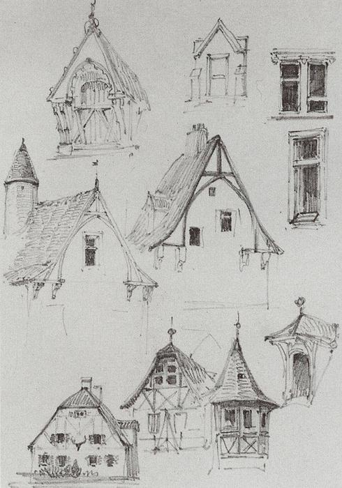 Architekturskizzen Von Reisen In Deutschland 1872 Vasily Dmitrievich Polenov