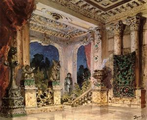 Vasily Dmitrievich Polenov - Halle im Magic Castle