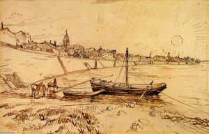 Vincent Van Gogh - Bank of die rhone bei Arles