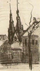 Vincent Van Gogh - St. Catharina-Kirche in Eindhoven
