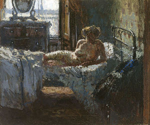 Walter Richard Sickert - Mornington Crescent nackt, Gegenlicht