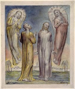 William Blake - Andreas, Simon Peter Suche nach Christus