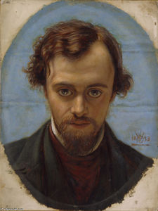 William Holman Hunt - Porträt von Dante Gabriel Rossetti