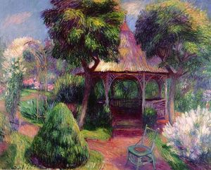 William James Glackens - Garten in Hartford
