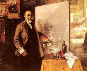 William Merritt Chase - Selbstportrait