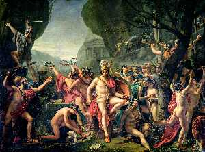Jacques Louis David - Leonidas an den Thermopylen