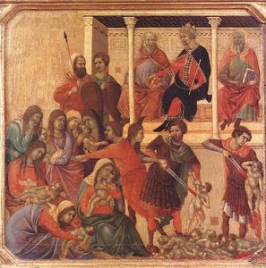 Duccio Di Buoninsegna - Slaughter of the Innocents