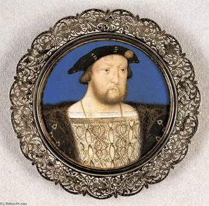 Lucas Horenbout - Henry VIII , King of England